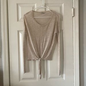 Madewell tie front long sleeve